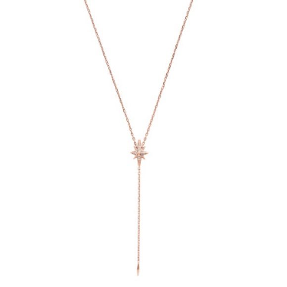 9255386ed3301d Michael Kors Jewelry | New Authentic Mk Rose Gold Pave Star Necklace ...